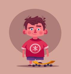 cute boy character cartoon vector image