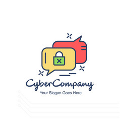 Cyber company messages logo with white background vector