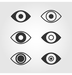 Eye icons set flat design vector image