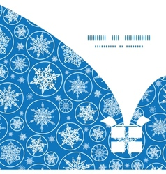 Falling snowflakes Christmas gift box silhouette vector