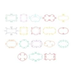 Frames Hand Drawn Set vector