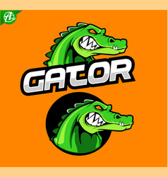 Gator mascot logo vector