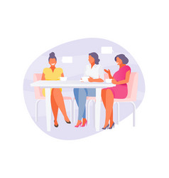 girlfriends in cafe vector image