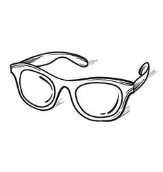 Glasses sunglasses hand drawn vector image vector image