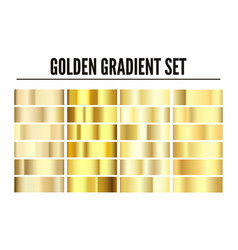 golden gradient set element shiny gold texture vector image