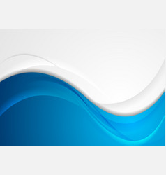 grey and blue abstract wavy corporate background vector image
