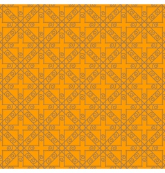 Grey-brown and orange abstract geometric seamless vector