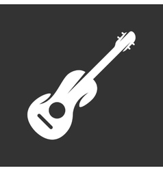 Guitar logo on black background icon vector