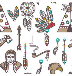 indian tribe items american native indians vector image