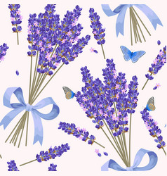 lavender flowers seamless pattern vector image