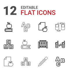 Learn icons vector