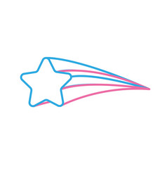 Line shooting star shiny in the sky vector