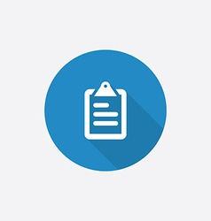 List flat blue simple icon with long shadow vector