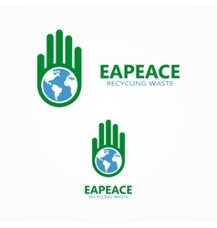 logo or icon combination of a hand and vector image