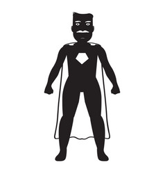 male superhero cartoon character silhouette vector image