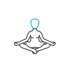 meditation techniques linear icon concept vector image