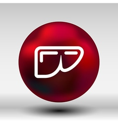 modern b lack icon liver vector image