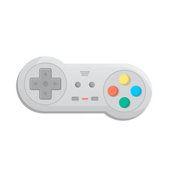 Modern wireless joystick for game console icon vector