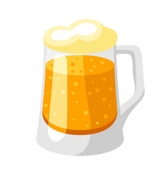 mug with light beer and froth vector image