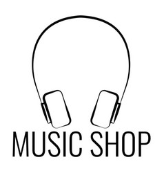Music shop label vector
