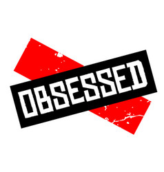 Obsessed attention sign vector
