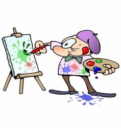painting artist vector image