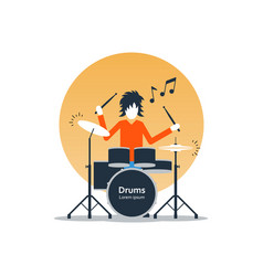 person playing drums music entertainment live show vector image