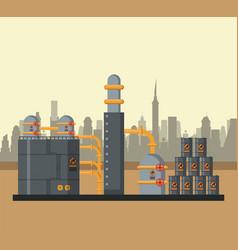 petroleum industry concept vector image