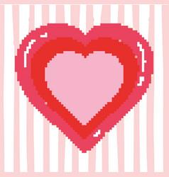 Pixelated heart videgame vector