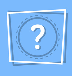 Question mark icon information help web button vector