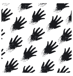Seamless print of hands on the diagonal vector