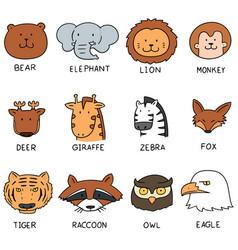set of animal vector image