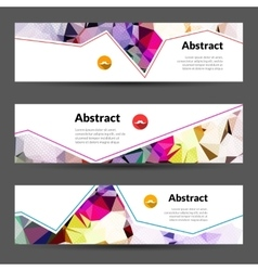 Set of horizontal polygonal triangles vector image