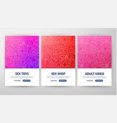 Sex shop flyer concepts vector