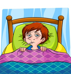 sick person vector image