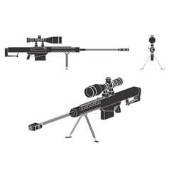 Sniper gun black fill vector