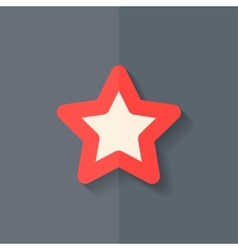 Star favorite sign web icon Flat design vector image