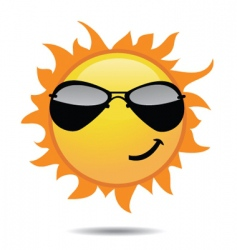 Sunny sun vector