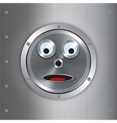 Surprised robot face background vector