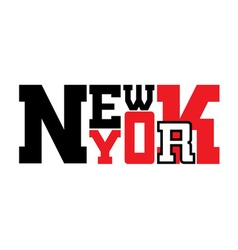 T shirt New York city red vector image
