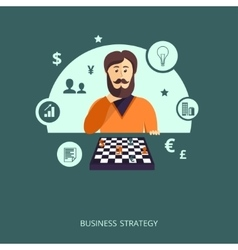 The concept of business strategy vector image