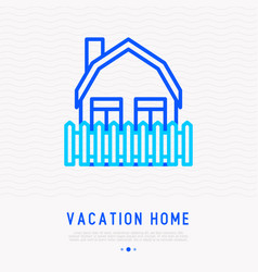 vacation home thin line icon vector image