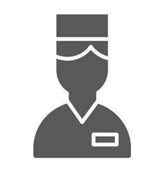 Valet glyph icon hotel and service concierge vector
