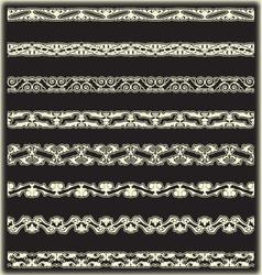 Vintage border set for design 18 vector image