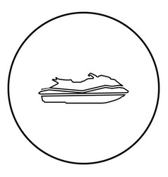 waverunner icon black color in circle round vector image