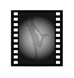 Woman on film vector