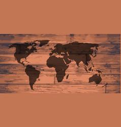 World map brand vector