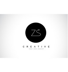 Zs z s logo design with black and white creative vector