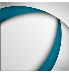 Blue and white curve lines abstract vector image vector image