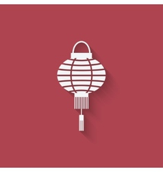 Chinese lantern design element vector image vector image